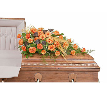 Fall Splendor Casket Spray in Abington MA, The Hutcheon's Flower Co, Inc.