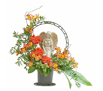 Heaven's Sunset Angel Basket in Wellington FL, Wellington Florist