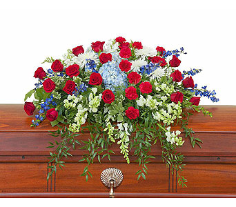 Honor Casket Spray in Pleasanton CA, Bloomies On Main LLC