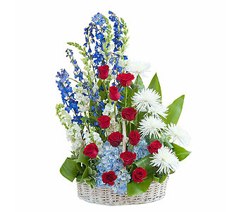 Honor Basket Tribute in Abington MA, The Hutcheon's Flower Co, Inc.