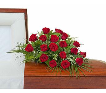 Simply Roses Casket Spray in Abington MA, The Hutcheon's Flower Co, Inc.