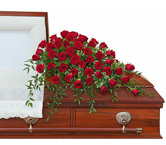 Simply Roses Supreme Casket Spray in Edmonton AB, Flowers By Merle