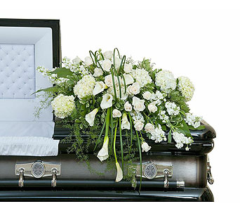 Elegant Love Casket Spray in Amarillo TX, Freeman's Flowers Suburban