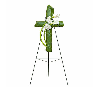 Elegant Love Graceful Cross in Mount Morris MI, June's Floral Company & Fruit Bouquets