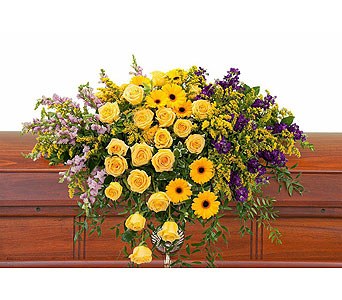 Vivid Memories Casket Spray in Wellington FL, Wellington Florist