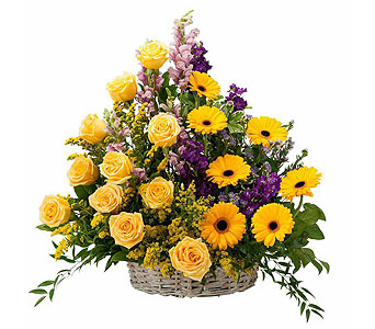 Vivid Memories Basket Tribute in Timmins ON, Heartfelt Sympathy Flowers