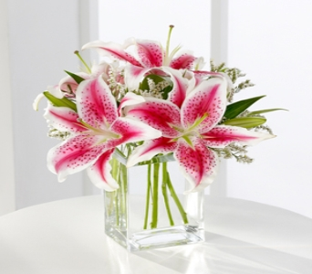Pink Lily Bouquet in Indianapolis IN, George Thomas Florist