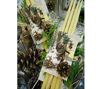 BEESWAX CANDLES IN BARK POUCH in Gibsons BC, Gibsons Florist, Ltd.