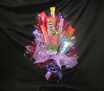 Purple Passion Candy Bouquet in Anchorage AK, Alaska Flower Shop