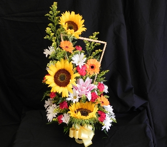 Mixed Spring with Sunflowers in Mililani Town HI, Mililani Town Florist