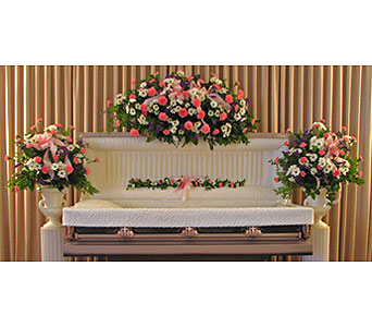 Fireside Full Casket Standard Collection in Richboro PA, Fireside Flowers