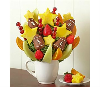 For the Love of the Game of Football in Mount Morris MI, June's Floral Company & Fruit Bouquets
