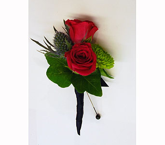 Jason Boutonniere in Hales Corners WI, Barb's Green House Florist