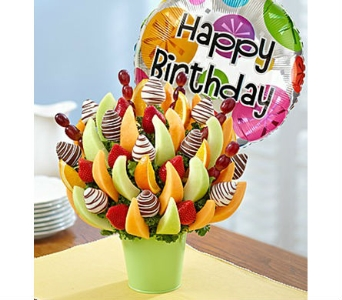 Sweet Birthday Treat in Mount Morris MI, June's Floral Company & Fruit Bouquets