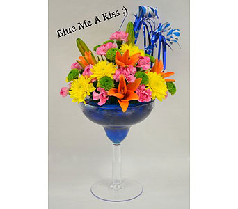 Blue Me a Kiss in Albuquerque NM, Silver Springs Floral & Gift