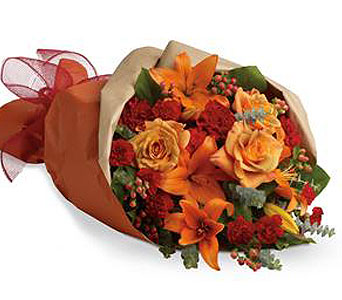 Warm color bouquet in Halifax NS, Atlantic Gardens & Greenery Florist