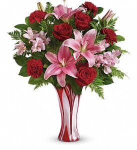 Teleflora's Rose Nouveau Bouquet in The Woodlands TX, Rainforest Flowers