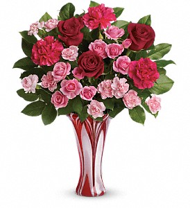 Teleflora's Swirls Of Love Bouquet in The Woodlands TX, Rainforest Flowers