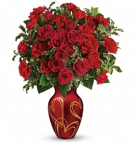 Teleflora's Hearts Of Gold Bouquet in Vienna VA, Caffi's Florist