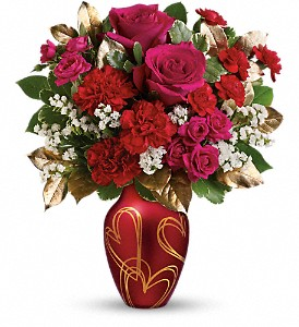 Teleflora's You're In My Heart Bouquet in The Woodlands TX, Rainforest Flowers