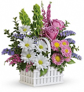 Teleflora's White Picket Bouquet in Royersford PA, Three Peas In A Pod Florist