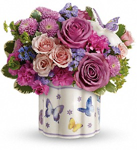 Teleflora's Field Of Butterflies Bouquet in Albion NY, Homestead Wildflowers