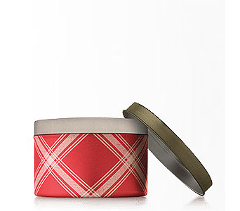 Frasier Fir Candle Tin in Detroit and St. Clair Shores MI, Conner Park Florist