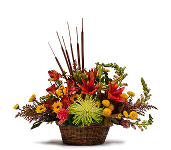 Abundant Basket in Brockton MA, Holmes-McDuffy Florists, Inc 508-586-2000