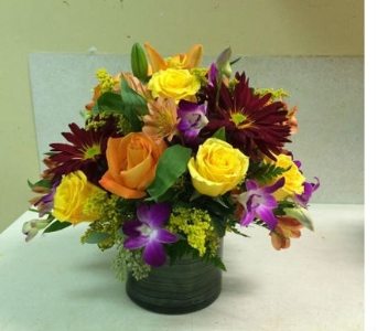 Vibrant Autumn Centerpiece in Bayside NY, Bell Bay Florist