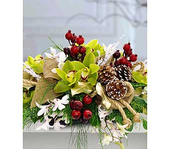 Glorious Winter Centerpiece by Hoogasian Flowers in San Francisco CA, Hoogasian Flowers