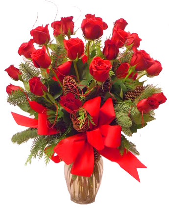 Double Dozen Holiday Roses in Las Vegas NV, A French Bouquet
