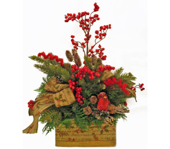 Rustic Christmas in Amherst NY, The Trillium's Courtyard Florist