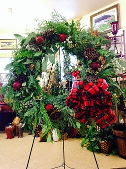 Fresh Christmas Wreath in Laramie WY, Fresh Flower Fantasy
