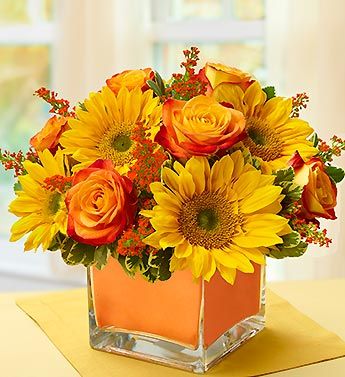 Modern Enchantment for Fall in Largo FL, Rose Garden Florist