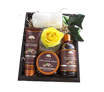 Tranquil Day Spa Gift Box in Eugene OR, Dandelions Flowers