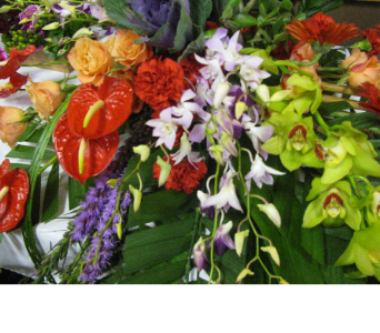 artistic tropical  floral arrangment in Bismarck ND, Dutch Mill Florist, Inc.