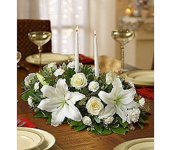All White Centerpiece in Yelm WA, Yelm Floral