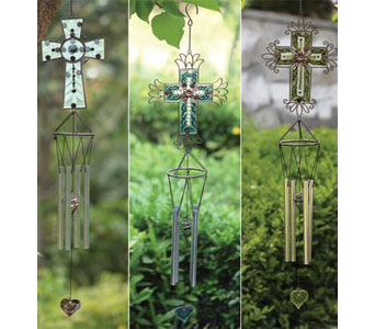 Cross Wind Chime in Bradenton FL, Ms. Scarlett's Flowers & Gifts