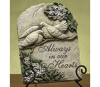 Always in our Hearts Plaque in Bradenton FL, Ms. Scarlett's Flowers & Gifts