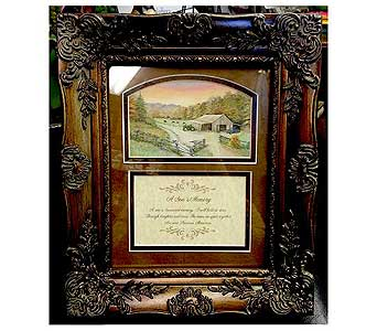 A Son's Memory Frame in Hendersonville TN, Brown's Florist