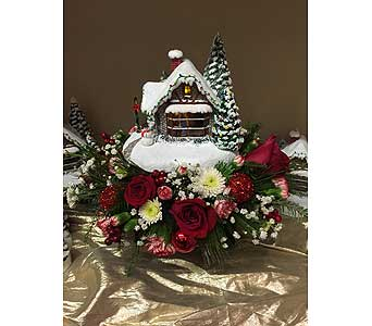 Thomas Kinkade's A Kiss For Santa in Creedmoor NC, Gil-Man Florist Inc.