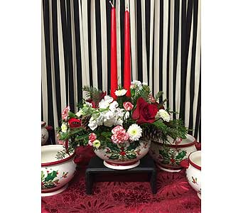 Teleflora's Holly Days Centerpiece in Creedmoor NC, Gil-Man Florist Inc.
