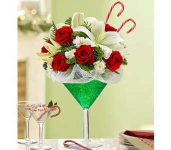 Martini Bouquet� Peppermint in Elk Grove CA, Flowers By Fairytales