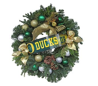 GO DUCKS Wreath in Eugene OR, Dandelions Flowers