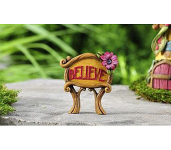 Miniature Garden Believe Sign in Guelph ON, Patti's Flower Boutique