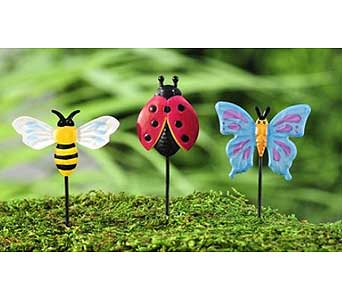 Miniature Garden Insect Stakes in Guelph ON, Patti's Flower Boutique