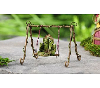 Miniature Garden Fairytale Leaf Swing in Guelph ON, Patti's Flower Boutique