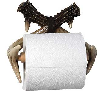 Deer Antler Toilet Paper Dispenser in Gautier MS, Flower Patch Florist & Gifts