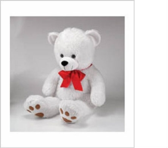 Large White Plush Bear in Big Rapids MI, Patterson's Flowers, Inc.