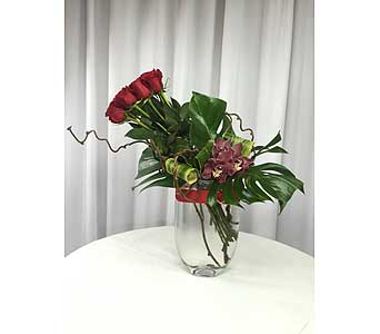 12 Roses with Orchids in Santa Clarita CA, Celebrate Flowers and Invitations